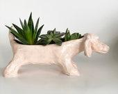 Dachshund Planter Pot, Animal Planter, Dachshund Garden, Dachshund Pot, Dog Pot, Dog Planter, Dog Pottery, Cute Planter, Fathers Day Planter