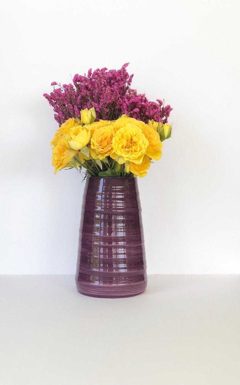 Etsy & Purple Flower Vase Handmade