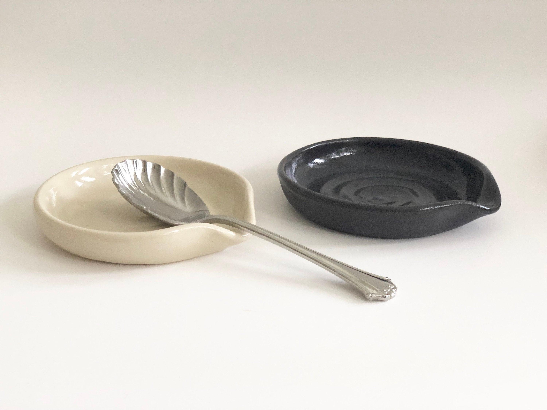 Ceramic Spoon Rest Beige Kitchen Decor Modern Spoon Rest Minimalist Spoon Rest Modern Kitchen Spoon Rest Beige Spoon Rest