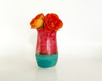 Red Bud Vase, Bud Vase, Small Vase, Cute Vase, Pretty Bud Vase, Little Bud Vase, Mini Red Vase, Porcelain Red Vase, Small Christmas Vase