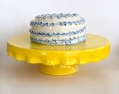 Ceramic Cake Plate, Cake Stand, Yellow Cake Plate, Yellow Cake Stand, Yellow Server, Wedding Cake Stand, Cake Plate Stand, Ceramic cake