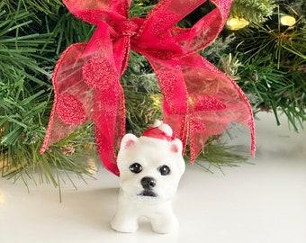 Westie Christmas Ornament, Dog Christmas, Westie Dog Ornament, Westie Ornament, Westie Christmas, West Highland Terrier, Westie Gift, Dog