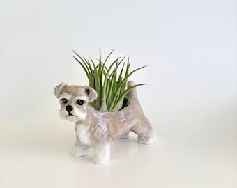 Schnauzer Air Planter, Schnauzer Lover Gift, Schnauzer Plant Pot, Schnauzer Gift, Schnauzer Planter, Schnauzer Ceramic, Schnauzer Sculpture