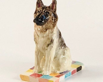 German Shepherd Statue, German Shepherd Paperweight, German Shepherd Lover Gift, German Shepherd Memorial, German Shepherd Sculpture