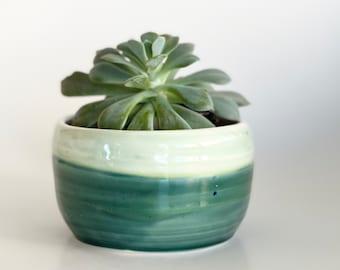 Plant Mom Gift, Plant Mom, Handmade Planter, Green Planter, Cactus Pot, Succulent Pot, Flower Pot, Green Flower Pot, Indoor Planter