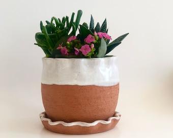 Terra Cotta Planter, Raw Terracotta Pot, Terracotta Plant Holder, Southwest Decor,  Southwest, Terracotta Plant Pot, Indoor Pot, Desert Home