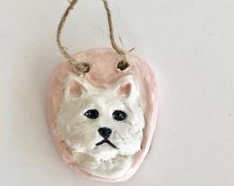 Westie Gifts, Westie Figurine, Westie Dog, Westie Dog Sculpture, Dog Mom, Westie Art, Wall Art, Cute Dog, Westie Dog, Westie Gift,