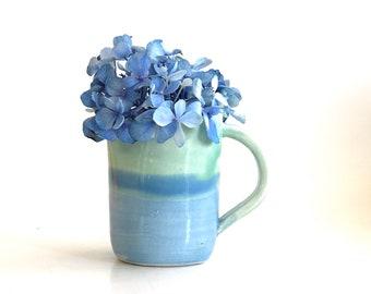 Small Flower Vase, Bud Vase, Cute Vase, Pretty Vase, Boho Vase, Pastel Vase, Boho Vase, Turquoise Vase, Mini Pitcher, Mini Bud Vase