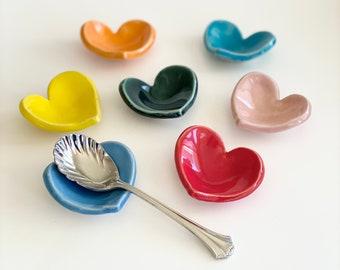 Coffee Spoon Rest, Teaspoon Rest, Spoon Rest, Tea Spoon Holder, Spoon Holder for Coffee, Handmade Spoon Rest, Heart Spoon Rest