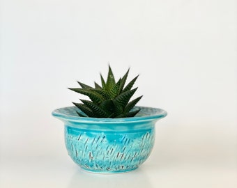 Small Plant Pot, Small Planter, Mini Pot, Blue Planter Pot, Indoor Pot, Cute Pot, Blue Pot, Small Blue Pot, Cute Pot, Little Plant Pot