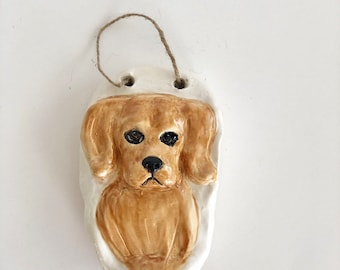 Golden Retriever Art, Wall Decor, Ceramic Art, Retriever Mom, Golden Retriever Gift, Retriever Art, Dog Lover Gift, Cute Dog Art, Labrador