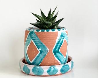 Small Terracotta Planter, Terracotta Pot, Planter Drainage, Southwest Decor, Ceramic Planter, Terracotta Plant Pot, Southwest House Planter