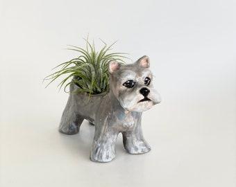 Schnauzer Air Planter, Schnauzer Lover Gift, Schnauzer Lover, Schnauzer Gifts, Schnauzer Planter, Schnauzer Ceramic, Schnauzer Sculpture