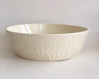 Fruit Bowl, Off White Pottery, Handmade Pottery Bowl, Pottery Fruit Bowl, Vegetable Bowl, Serving Bowl, Beige Bowl, Beige Serving Bowl, Bowl