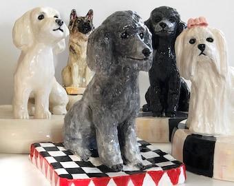 Custom Dog Statue, Dog Paperweight, Ceramic Dog, Pet Sculpture, Dog Memorial, Dog Lover Gift, Pet Loss Gift, Pet Memorial, Pet Statue