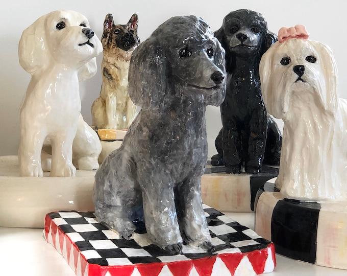 Featured listing image: Custom Dog Statue, Dog Paperweight, Ceramic Dog, Pet Sculpture, Dog Memorial, Dog Lover Gift, Pet Loss Gift, Pet Memorial, Pet Statue