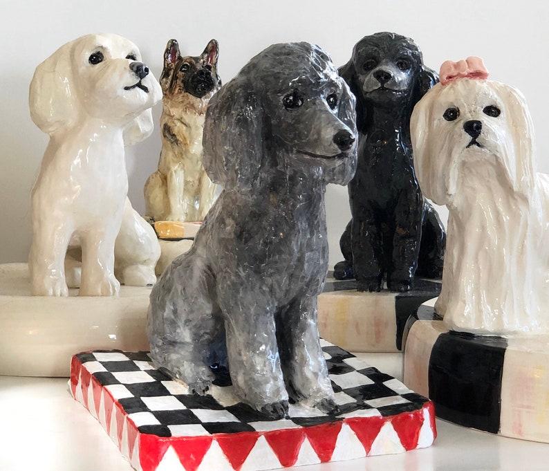 Custom Dog Statue Dog Paperweight Ceramic Dog Pet image 0