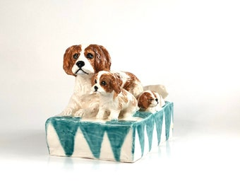 Cavalier King Charles, King Charles Lover, Dog Paperweight, Spaniel Statue, Spaniel Sculpture, King Charles Statue, Cavalier Lover Gift