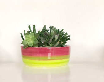 Lime Green Pot, Lime Planter Pot, Chartreuse Planter, Succulent Pot, Small Flower Pot, Chartreuse Decor, Chartreuse Room, Chartreuse Patio