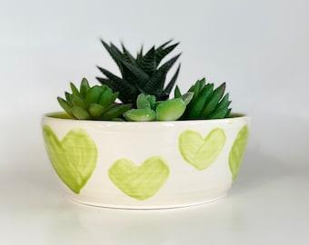 Small Green Planter, Small Planter Pot, Small Green Planter Pot, Small Green Pot, Green Pottery Planter, Green House Planter, Green Planter