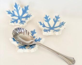 Coffee Spoon Rest, Teaspoon Rest, Spoon Rest, Tea Spoon Holder, Spoon Holder for Coffee, Handmade Spoon Rest, Snowflake Decor