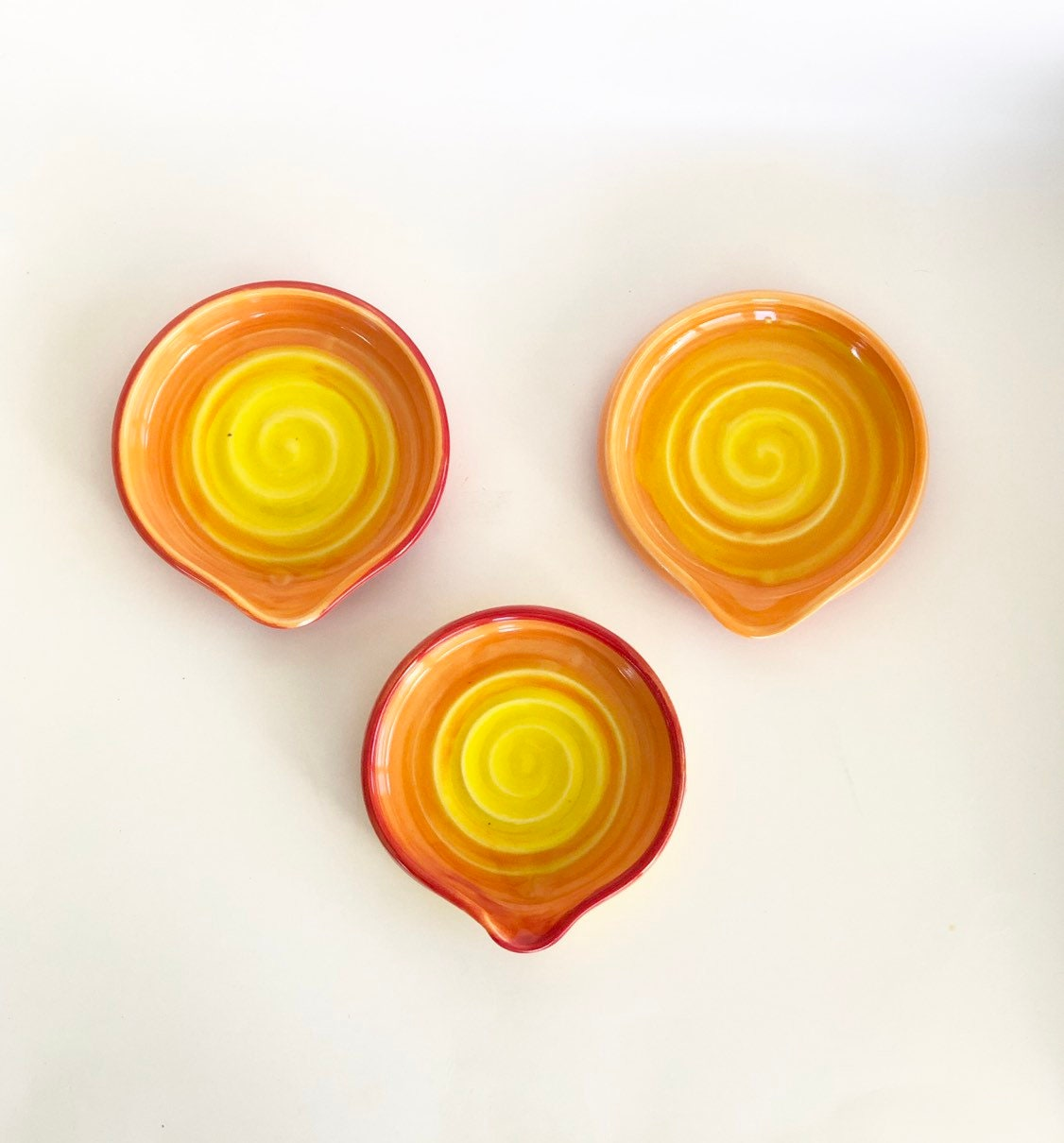 Yellow Spiral Spoon Rest