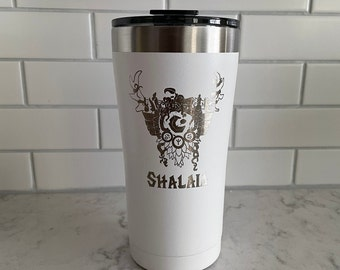 World of Warcraft Class Crest Laser Engraved Tumblers