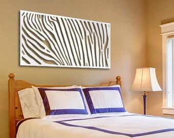 Original Laser Cut Metal Wall Art (Zebra) - Signature Series