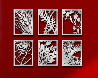 Original Laser Cut Metal Wall Art (Organic Plants) - Signature Line