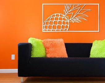 Original Laser Cut Metal Wall Art (Pineapple) - Signature Series