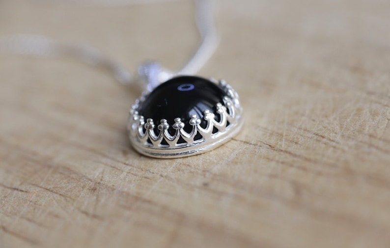 20/'/' sterling silver chain 18/'/' 925 Sterling silver and Black Onyx necklace charm pendant with 16/'/'