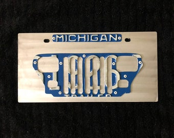 Jeep Wrangler front license plate. All style jeep grills available any state, you choose