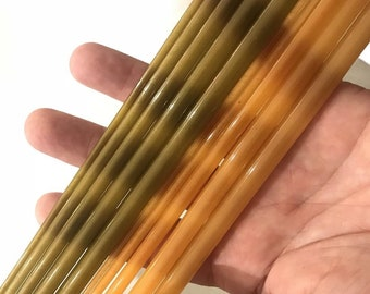 "Fiberglass 7' 5pc 3wt travel fly rods ready to be built to your specifications packs down to 18"".  1 READY TO SHIP: one finished and ready"