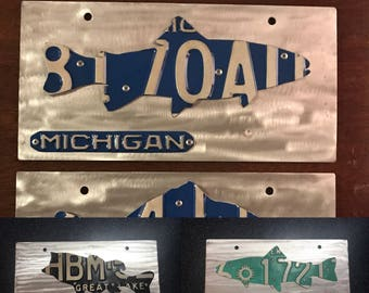 Custom orderd Front license plate. Any state most fish and animals available upon request. Fly fishing, duck hunting, fishing, trout, bass