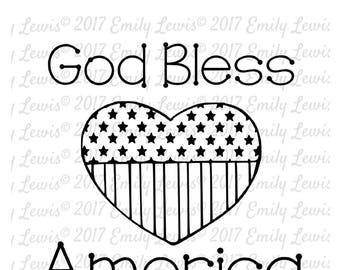 God Bless America SVG - 4th of July SVGs - 4th of July Cut Files - USA Svgs - America Svgs - Primitive Decor -  Independence Day Svgs