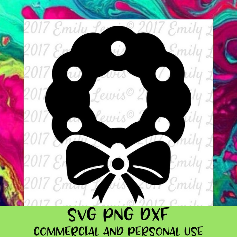 Christmas Wreath Silhouette.Wreath Silhouette Christmas Wreath Svg Christmas Svg Files Christmas Cut Files Svg Files For Cricut Christmas Dxf Files Holidays
