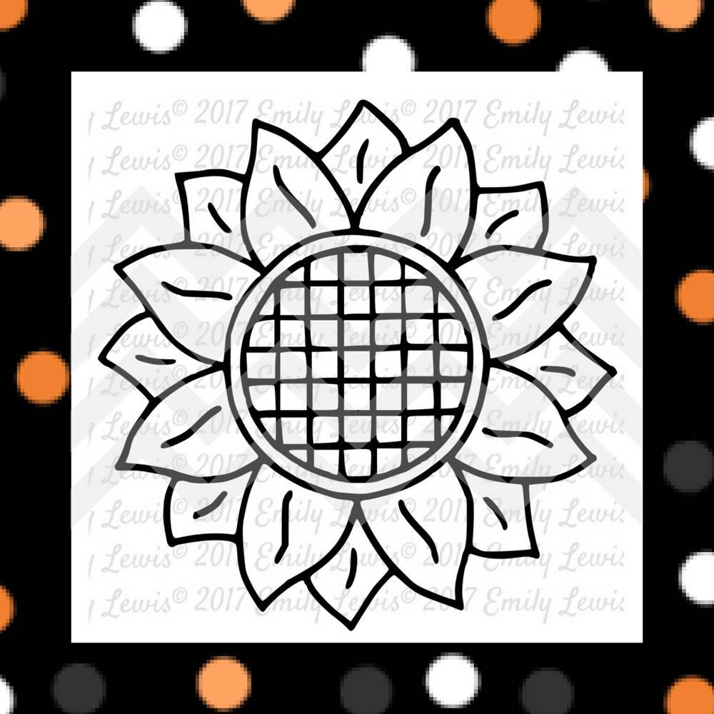 Download sunflower svgs - halloween svg - sunflower clipart ...