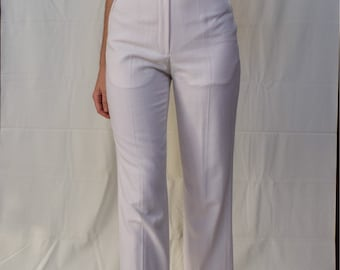 80s Wide Leg Trousers in White Size S