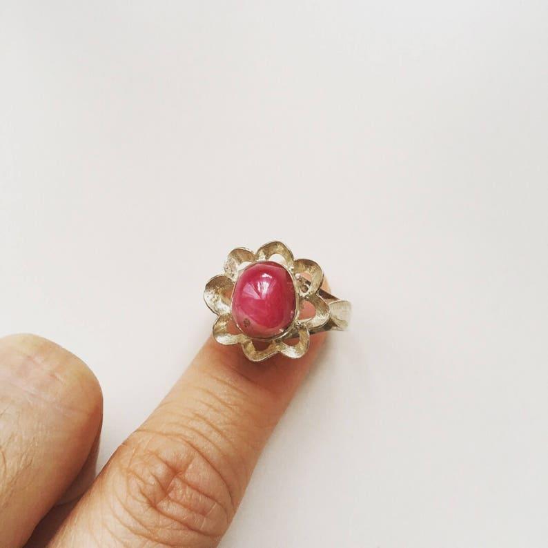 Vintage silver925 Ruby Gemstone ring US8 34
