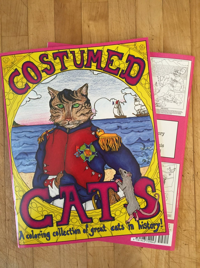 Costumed Cats  A coloring book collection of great cats in image 0