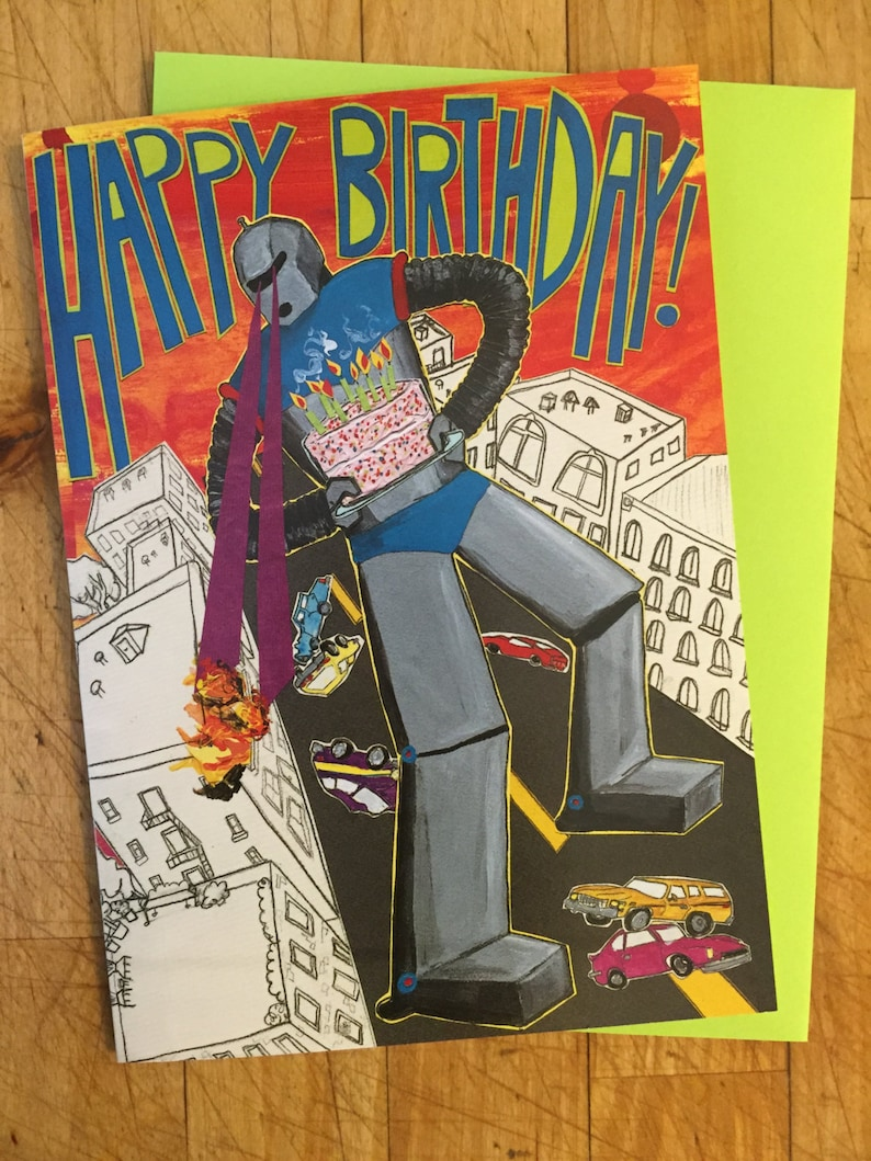 Bad Robot Birthday Card image 0