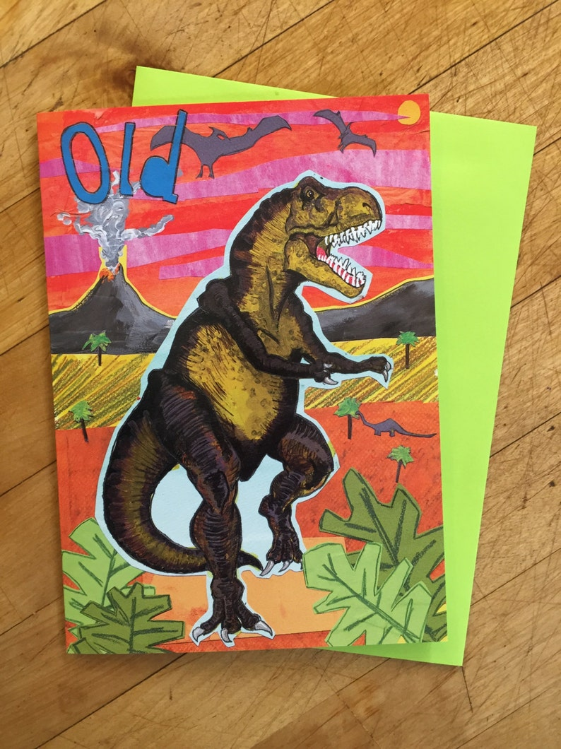 Dinosaur Birthday Card image 0