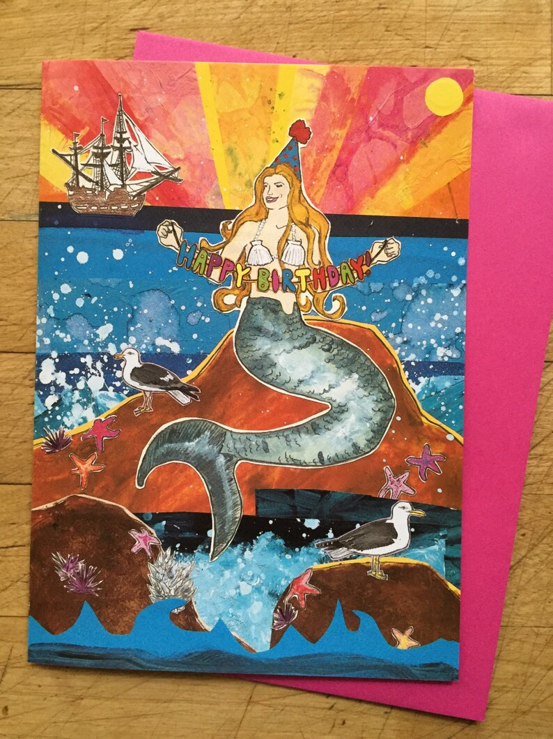 Mermaid Birthday Card image 0