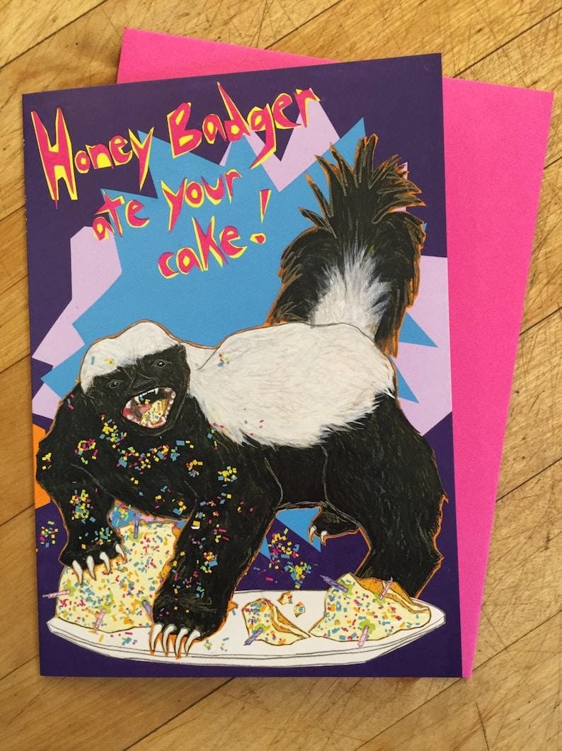 Honeybadger Birthday Card image 1