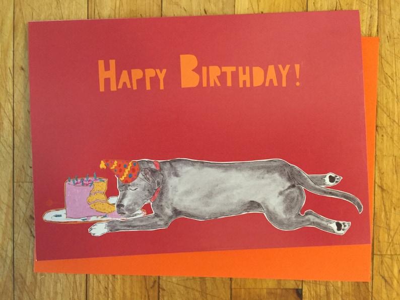Sleeping Dog Birthday Card image 0