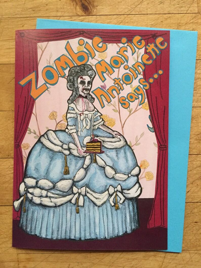 Zombie Marie Antoinette Birthday Card image 1