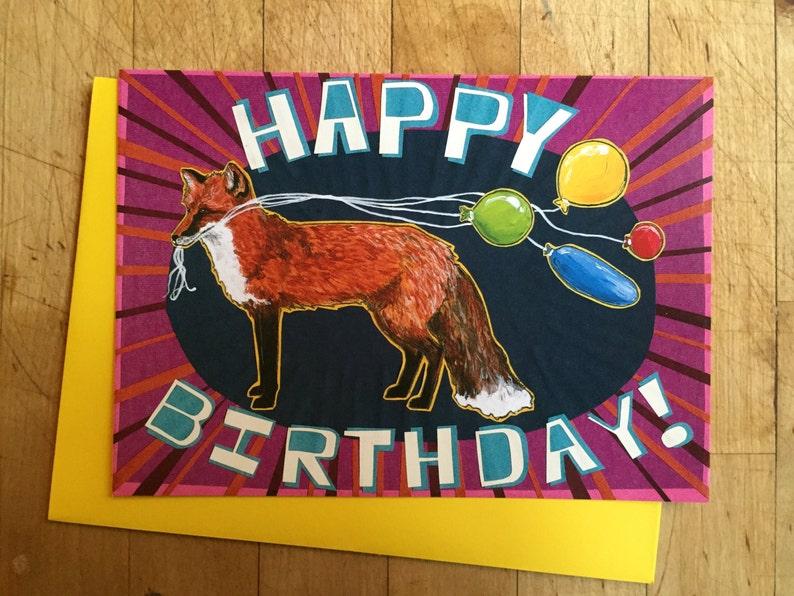 Foxy Birthday Card image 1