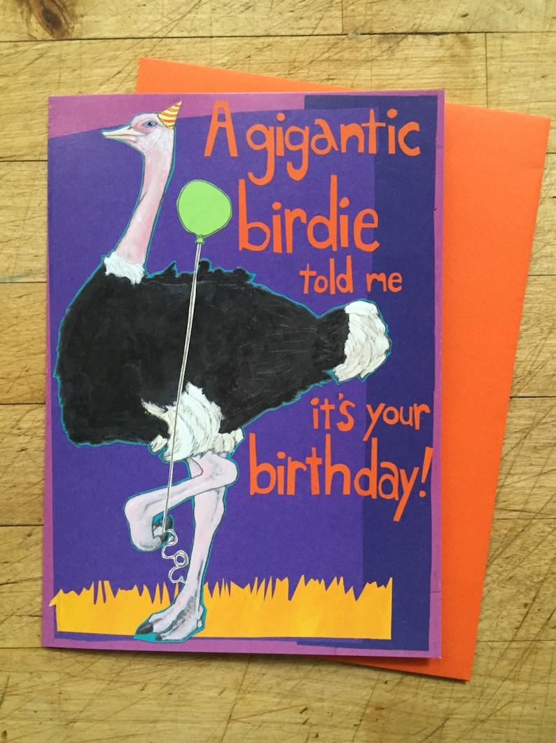 Ostrich Birthday Card image 0