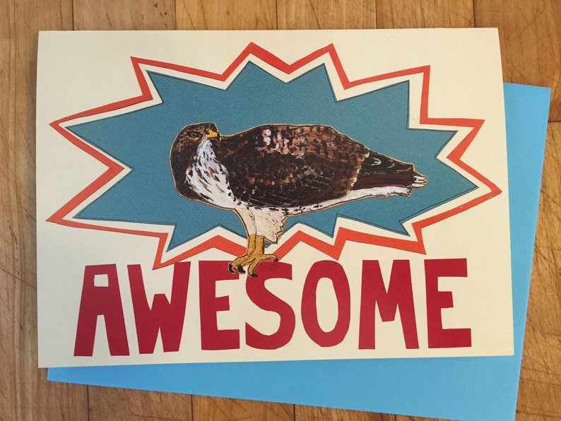 Awsome Hawk Greeting Card image 0