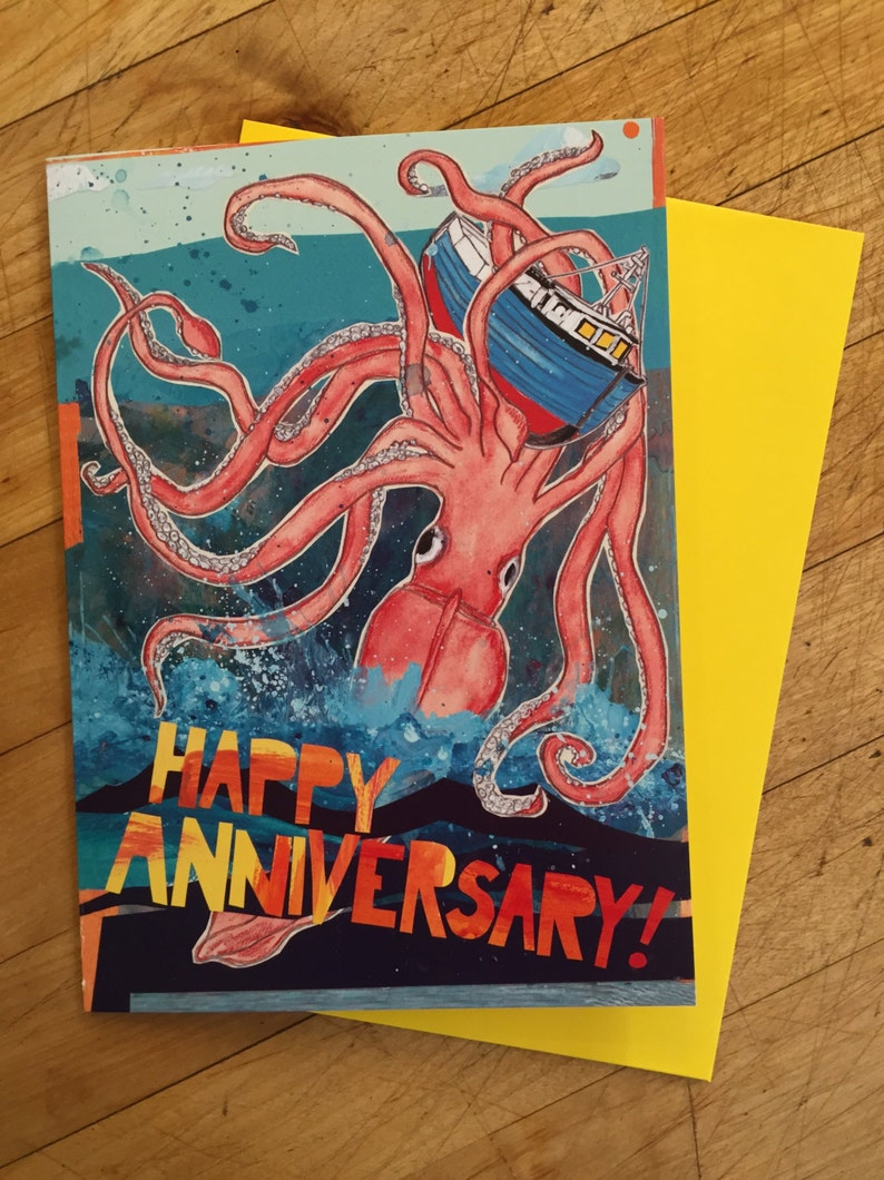 Squid Anniversary Card image 0